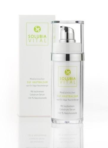 Solubia Vital EGF Serum Balsam. Top Naturkosmetik. Die beste Naturkosmetik für Anti Aging. Stammzellenaktivierung, Stammzellenkur für die Haut.