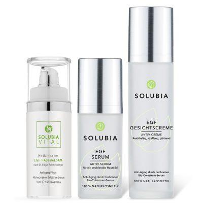 SOLUBIA EGF Set - Serum Hautbalsam Gesichtscreme