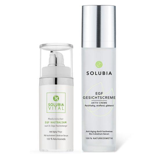 SOLUBIA EGF Set - Hautbalsam und Gesichtscreme